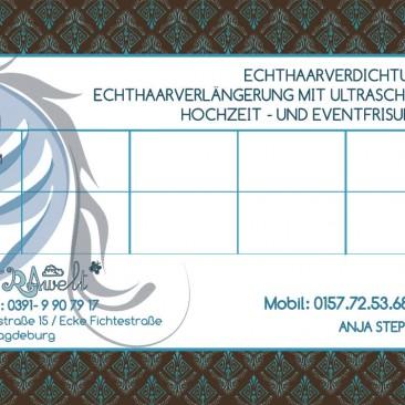 Visitenkartengestaltung für Anja (Rückseite Jahr 2011)