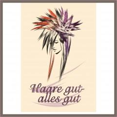 "Logo & Flyer Gestaltung ""Haare gut"""