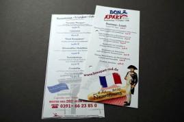 2012/ Restaurant Bon Apart Flyer