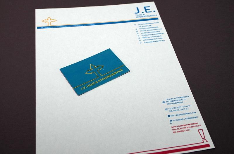 J E Haus Logo Geschäftsausstattung Ideespice
