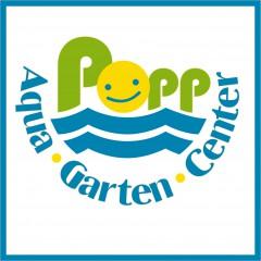 """Flyer, Visitenkarten und Messegestaltung """"Popp Aqua Garten"""""""