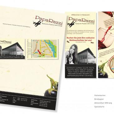 Briefbogen, Visitenkarte & Flyer