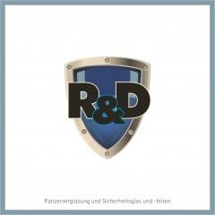 """Logo Gestaltung """"R&D Lichtschutzfactory- & Panzerglas"""""""