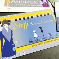 "Flyer, Visitenkarte, Webseite & Ausßenwerbung ""Steffi's"""