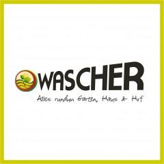 """Logo, Visitenkarten, Brief- und Flyergestaltung, Außenwerbung und Web """"Wascher"""""""